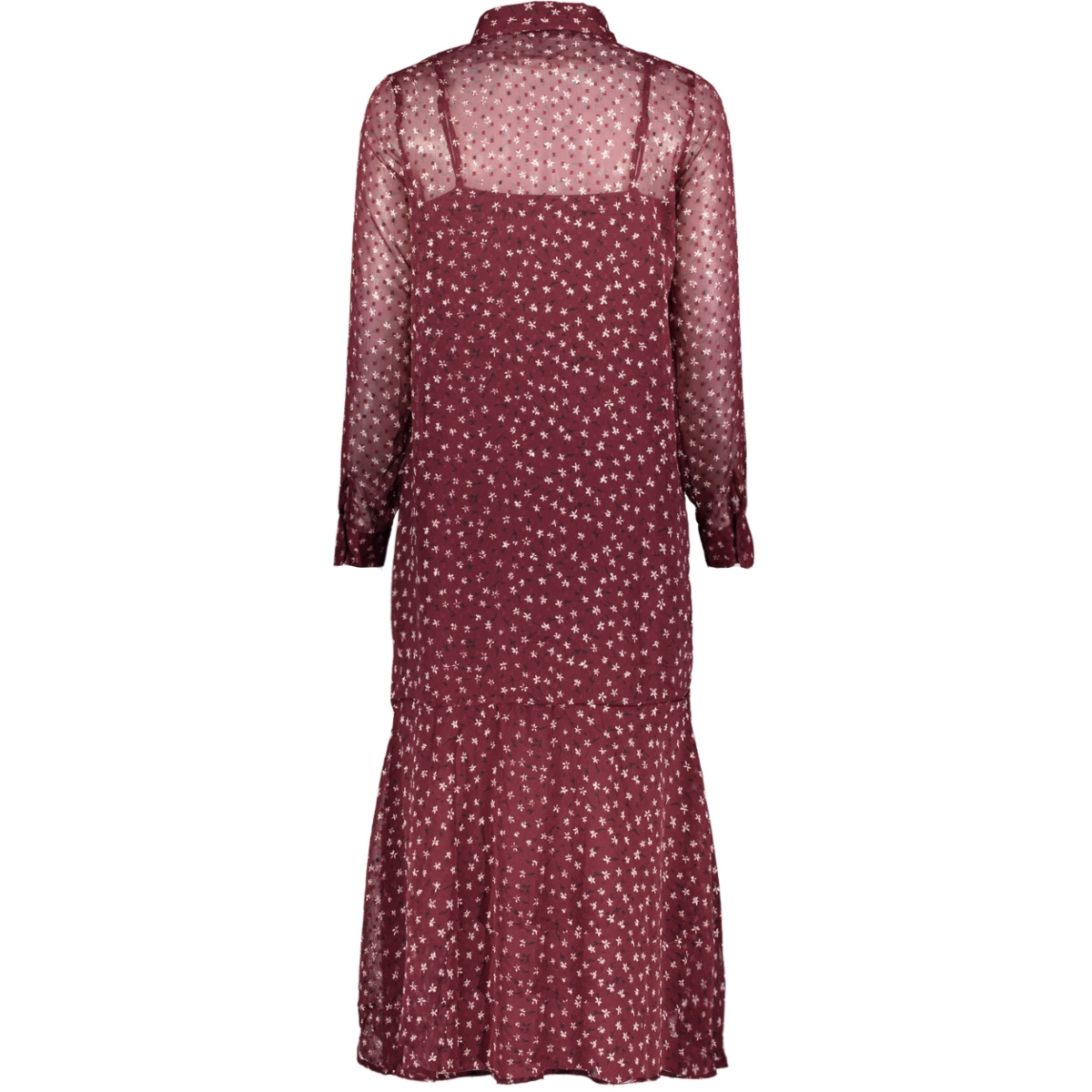 onlkim ls dress wvn 15184670 only jurk tawny port/blooming