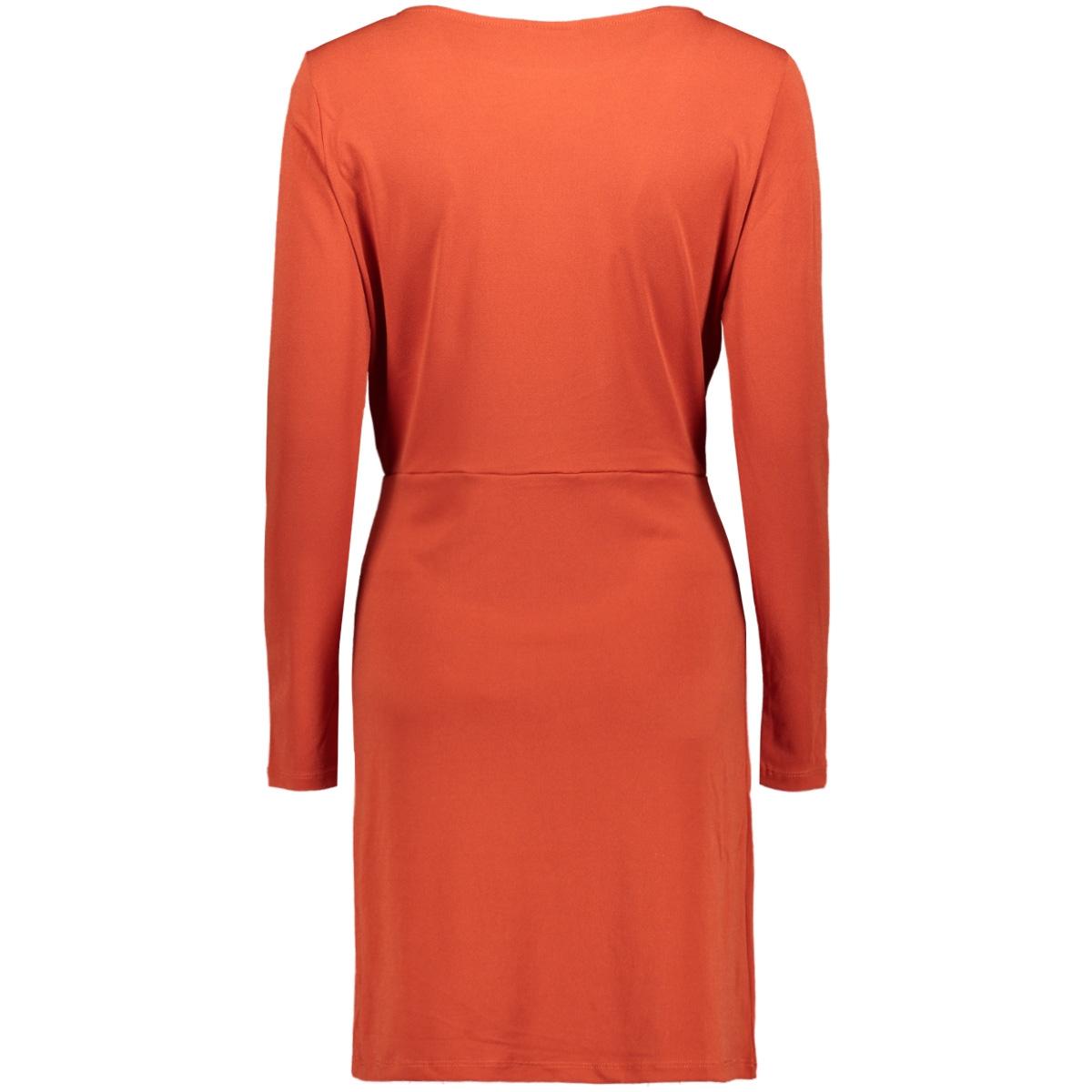 viclassy l/s detail dress - fav 14053360 vila jurk ketchup