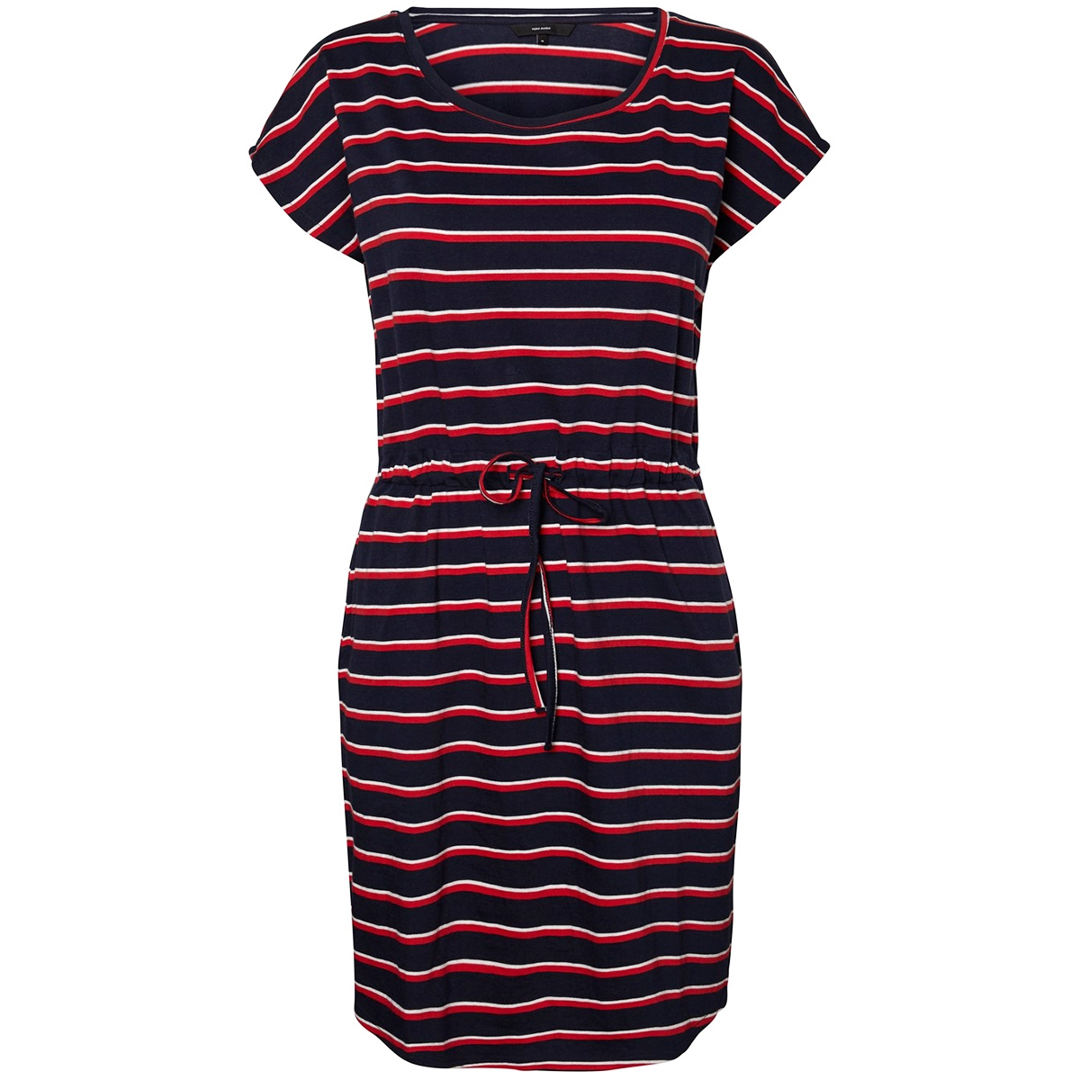 vmapril ss short dress ga color 10213298 vero moda jurk navy blazer/fliz snow