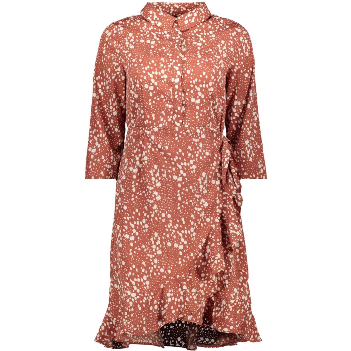 vmhenna 3/4 short shirt dress exp 10228919 vero moda jurk marsala/ellie