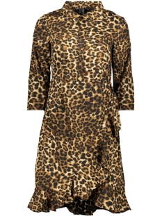 vmhenna 3/4 short shirt dress exp 10228919 vero moda jurk pristine/leo