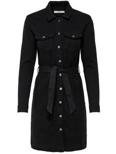 Jacqueline de Yong Jurk JDYSANNA DENIM SHIRT DRESS DNM 15182866 Black Denim