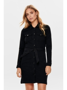 jdysanna denim shirt dress dnm 15182866 jacqueline de yong jurk black denim