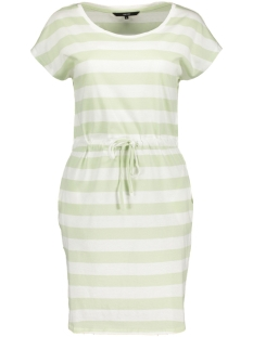 vmapril ss short dress ga color 10213298 vero moda jurk snow white/block