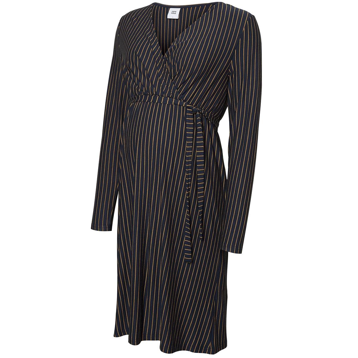 mlbella l/s jersey abk dress 20010631 mama-licious positie jurk salute/tobacco br