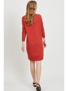 viril l/s knit dress - noos 14042768 vila jurk ketchup/melange