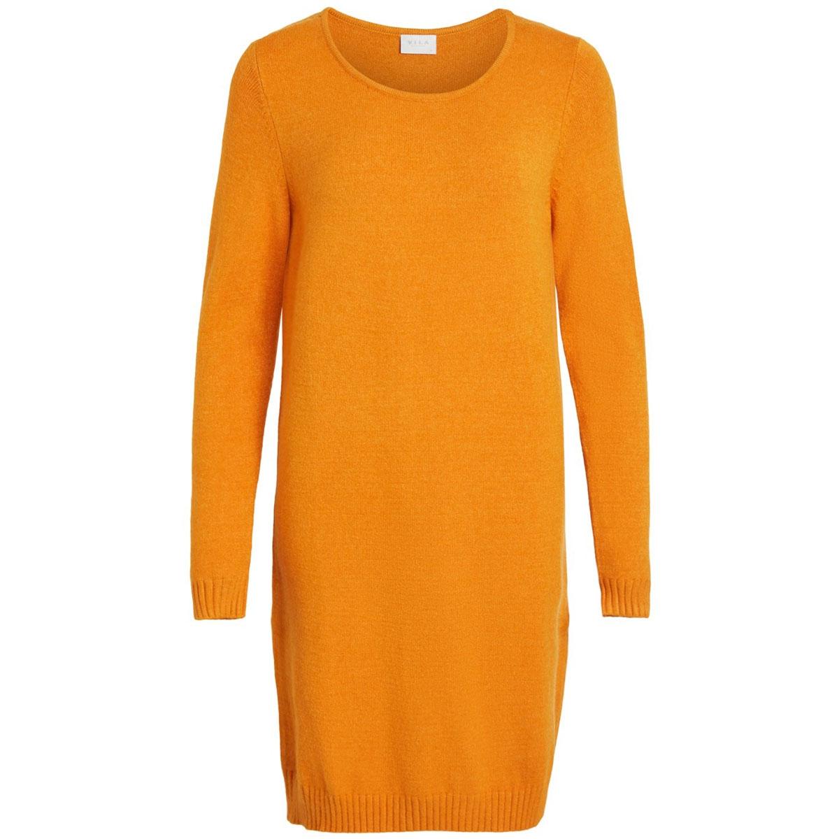 viril l/s knit dress - noos 14042768 vila jurk golden oak/melange