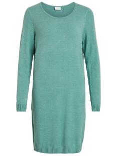 viril l/s knit dress - noos 14042768 vila jurk oil blue/melange