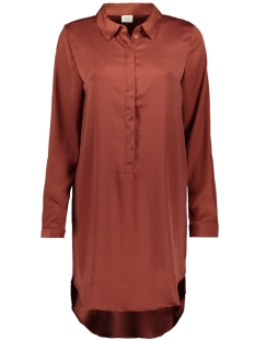jdytara l/s hi-low long shirt wvn 15198854 jacqueline de yong jurk smoked paprika