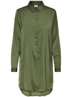 jdytara l/s hi-low long shirt wvn 15198854 jacqueline de yong jurk ivy green
