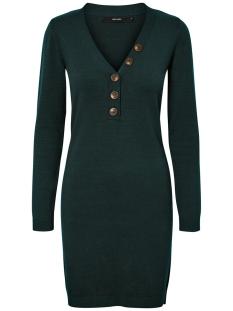Vero Moda Jurk VMCHIP KARIS LS V-NECK BUTTON DRESS 10215762 Ponderosa Pine