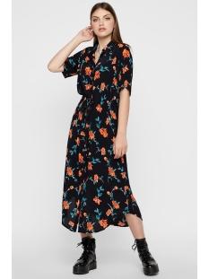 pcjilly 2/4 shirt midi dress if 17101435 pieces jurk black/flowers