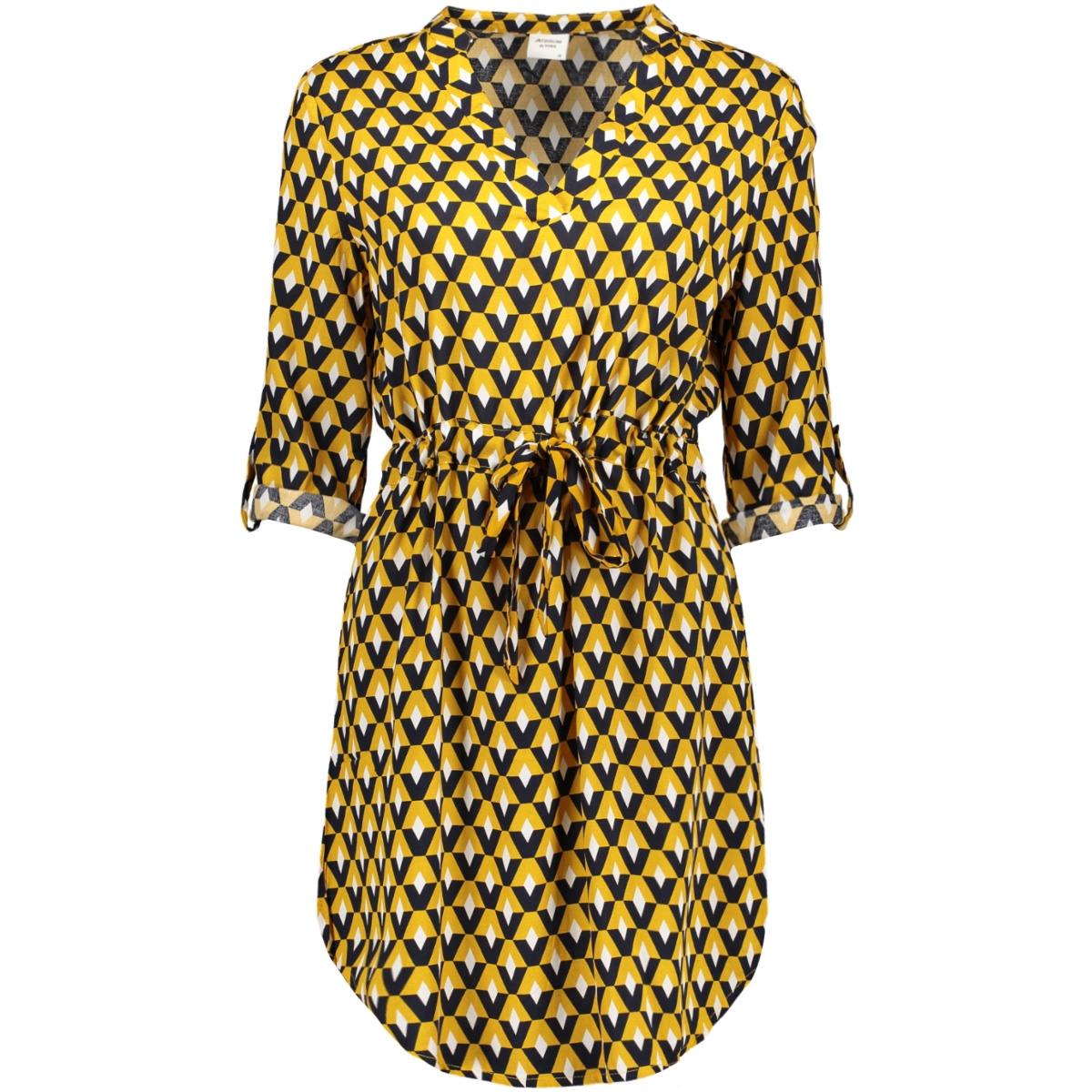 jdyniko 3/4 dress wvn 15183952 jacqueline de yong jurk harvest gold/geometric