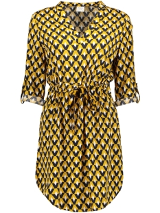 Jacqueline de Yong Jurk JDYNIKO 3/4 DRESS WVN 15183952 Harvest Gold/GEOMETRIC