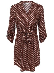 Jacqueline de Yong Jurk JDYNIKO 3/4 DRESS WVN 15183952 Smoked Paprika/GEOMETRIC