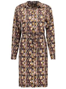 Goût d'Anvers Jurk SHORT DRESS BLOCKS GDA12 0703 BLOCKS BLACK/OFFWHITE/LILA/BORDEAUX