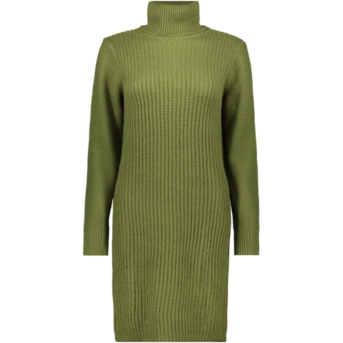 nmaiden l/s high neck knit dress 27009459 noisy may jurk olivine