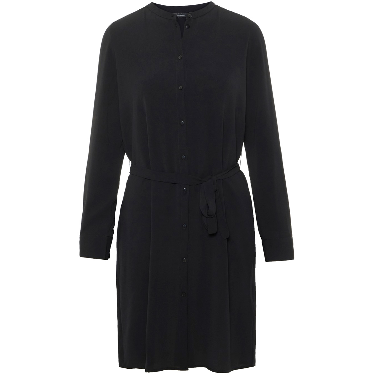 vmsaga ls abk shirt dress 10212878 vero moda jurk black/solid