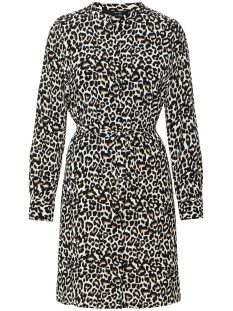 Vero Moda Jurk VMSAGA LS ABK SHIRT DRESS 10212878 Oatmeal/LINEA