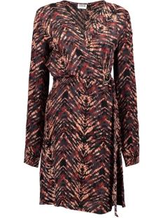 Noisy may Jurk NMURBAN L/S BUCKLE DRESS 27010033 Tandori Spice/ANIMAL PRINT