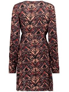 nmurban l/s buckle dress 27010033 noisy may jurk tandori spice/animal print