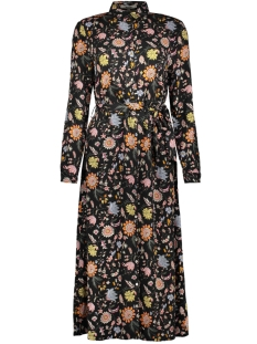 lange jurk met bloemenprint i90085 garcia jurk 60 black