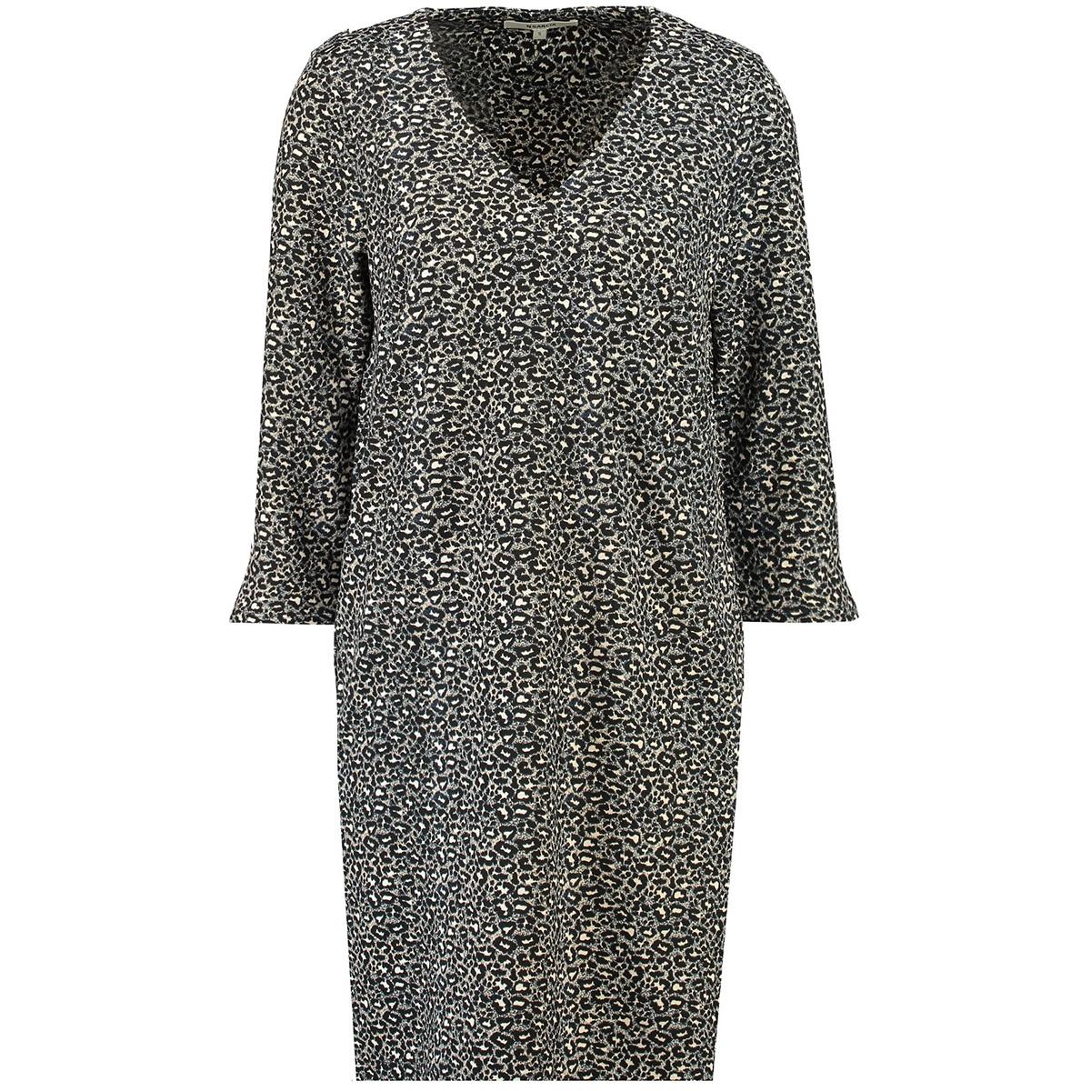 jurk met panterprint i90080 garcia jurk 60 black