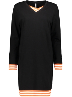 zita sweat tunic 194 zoso jurk black/offwhite
