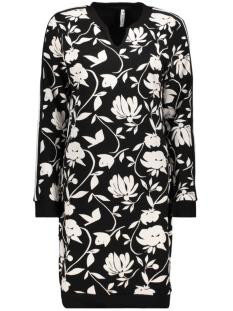 Zoso Jurk TIKI SWEAT DRESS 194 BLACK/OFF WHITE