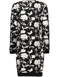 tiki sweat dress 194 zoso jurk black/off white