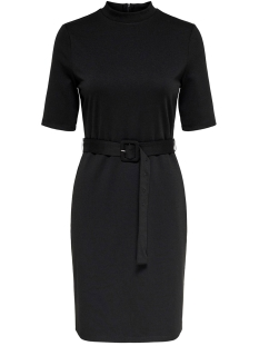Only Jurk ONLFREJA 3/4 BELTED DRESS JRS 15189314 Black