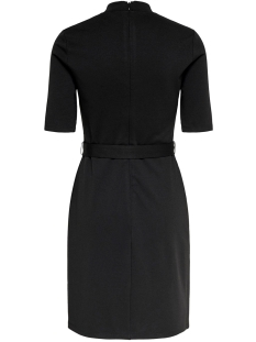 onlfreja 3/4 belted dress jrs 15189314 only jurk black