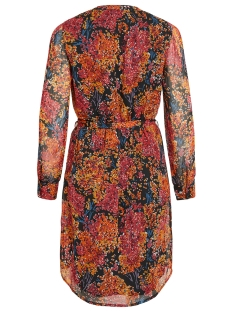 objelva l/s shirt dress 106 div 23031910 object jurk black/autumn flower