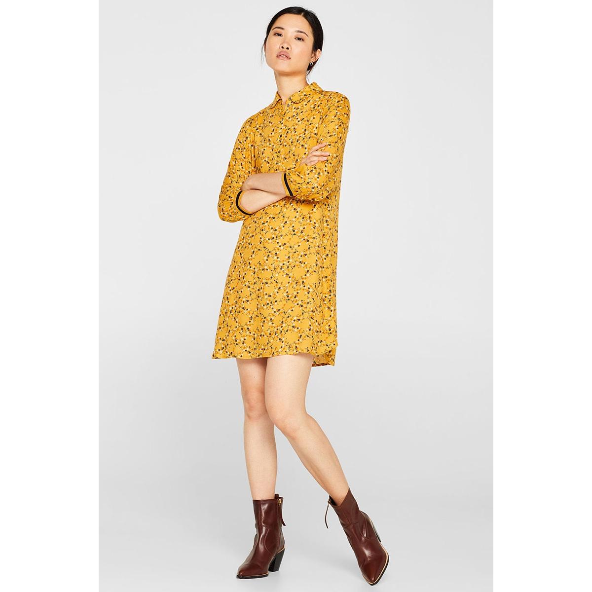 geweven jurk met jersey boordjes 099cc1e015 edc jurk c710