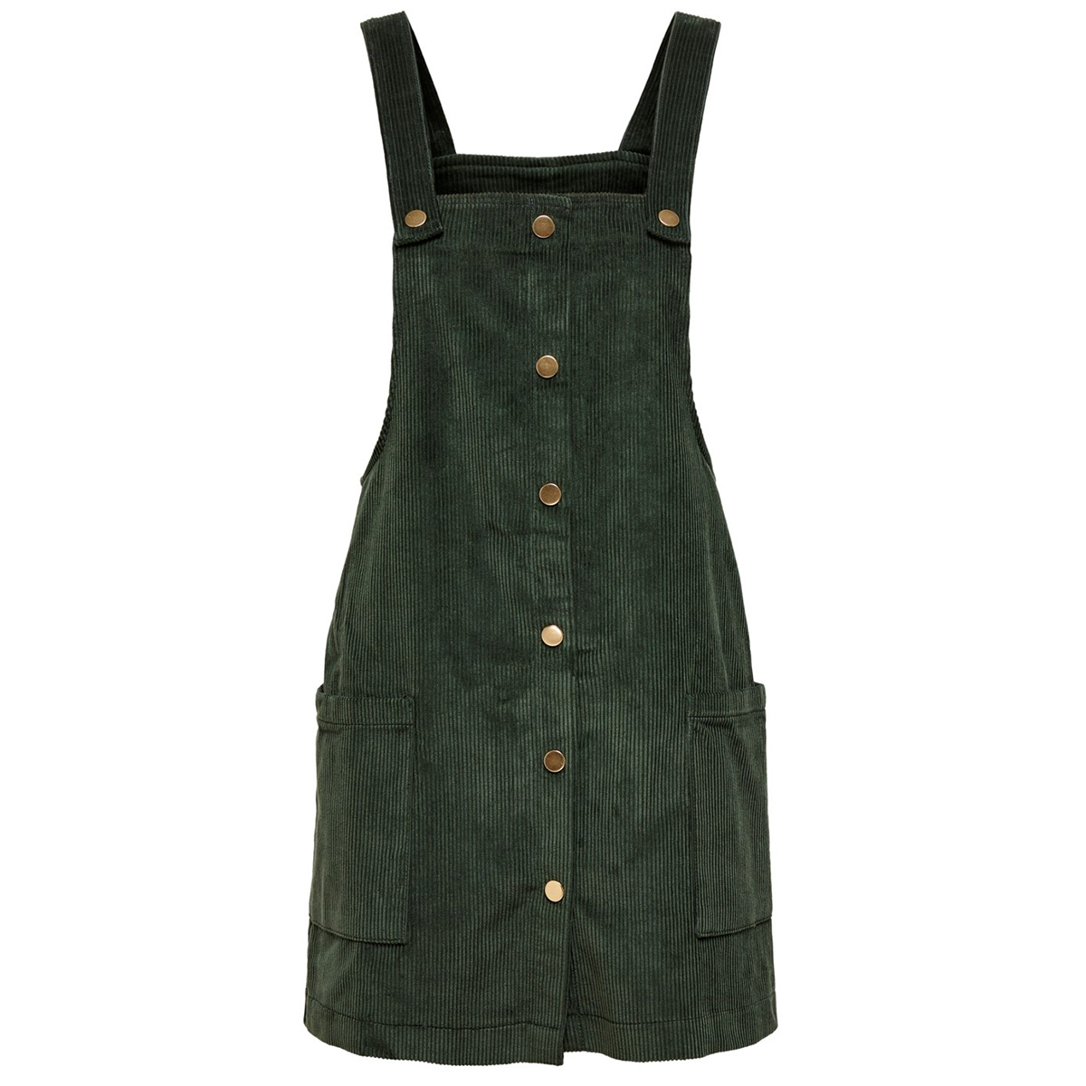 onlamazing  corduroy dress pnt 15182153 only jurk green gables/green color