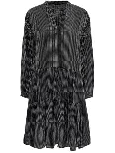 Only Jurk ONLNEW ATHENA L/S DRESS WVN 15203397 Black/BLACK W. WHITE