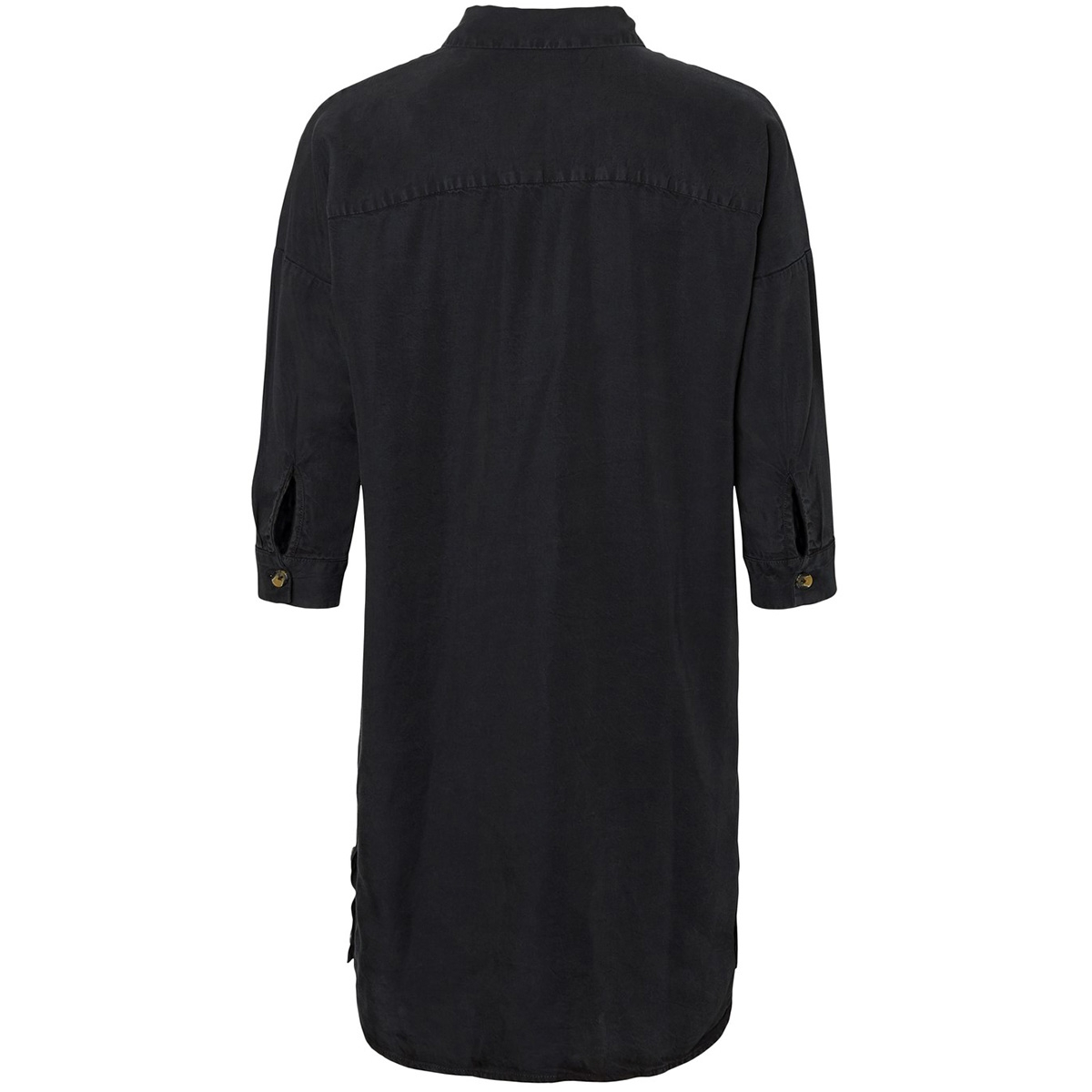 nmmika 3/4 endi button dress 27010800 noisy may jurk black