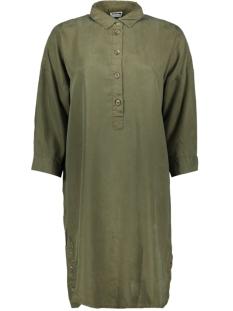 Noisy may Jurk NMMIKA 3/4 ENDI BUTTON DRESS 27010800 Olive Night