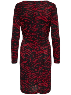 onlanja l/s twist dress jrs 15189336 only jurk merlot/dandy tiger