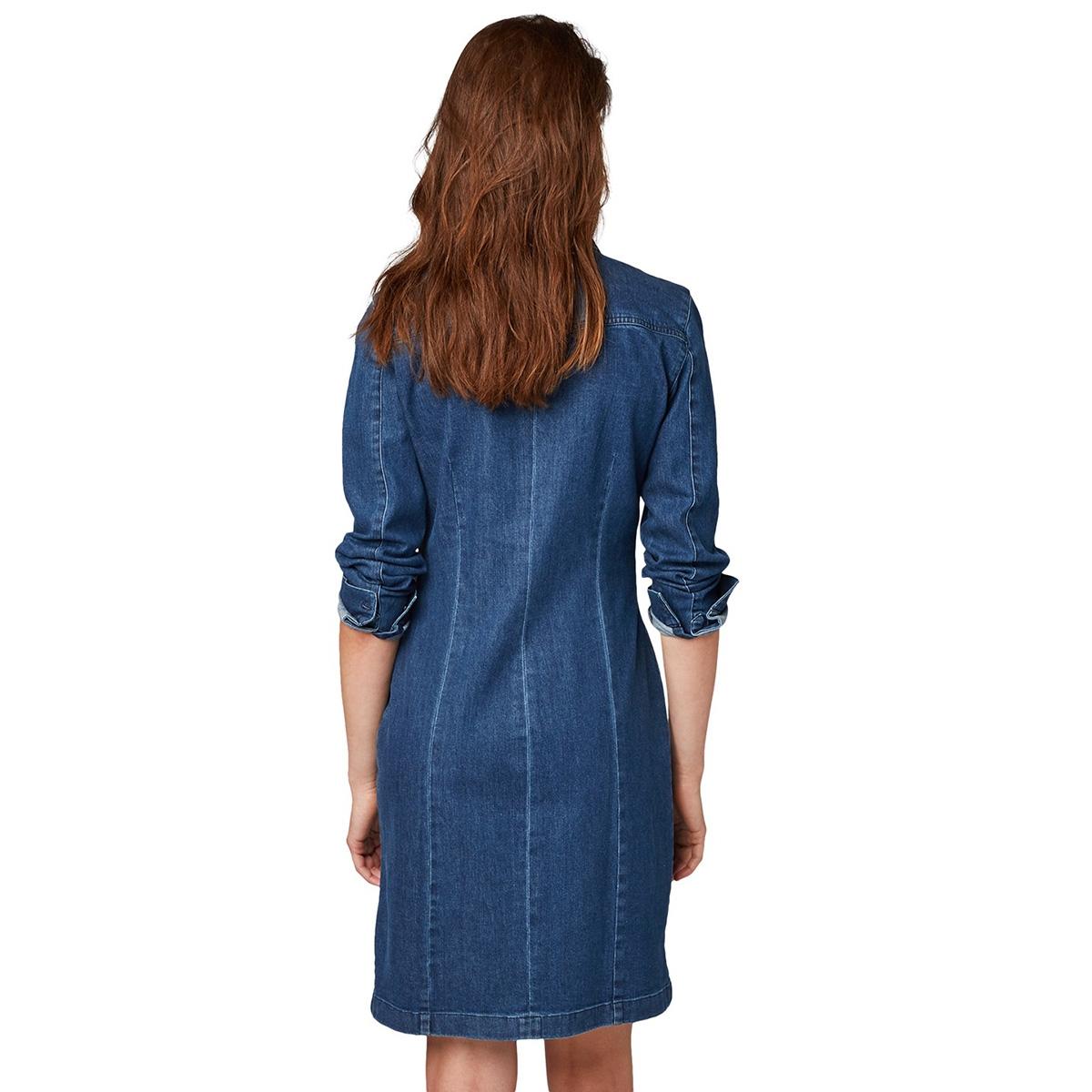 getailleerde spijkerjurk 1013413xx71 tom tailor jurk 10113