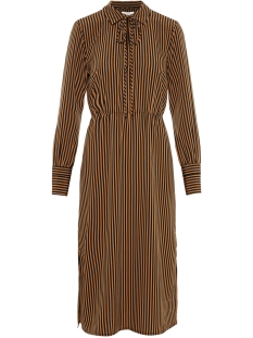 Pieces Jurk PCHENNY LS MIDI DRESS 17098843 Toasted Coconut/ TOASTED