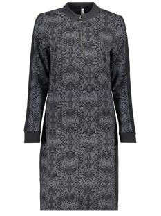 suzie printed sweat dress 194 zoso jurk black/antra