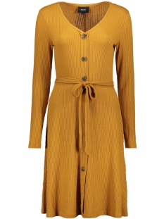 objdebra l/s dress 106 23030712 object jurk buckthorn brown