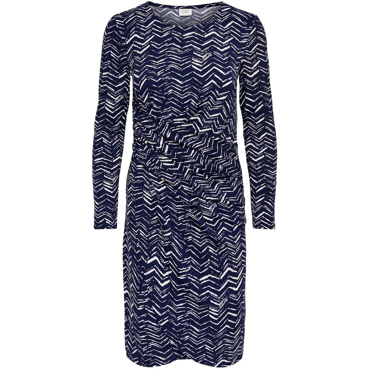jdyheart l/s dress jrs 15184764 jacqueline de yong jurk peacoat/peacoat