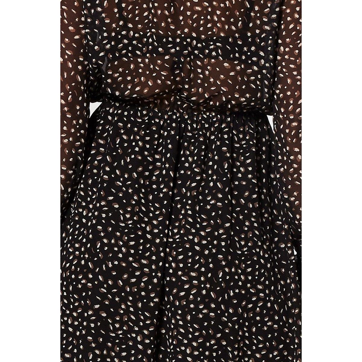 ivana dress w19 75 6450 circle of trust jurk leopard hidden sand