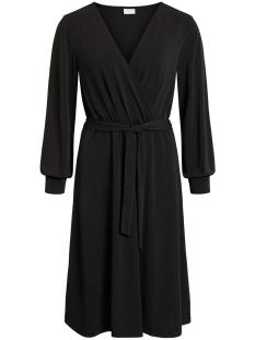 viborneo l/s midi dress 14054609 vila jurk black