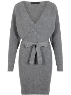 Vero Moda Jurk VMREMI LS V-NECK DRESS 10221499 Medium Grey Melange