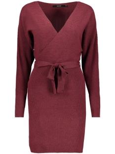 Vero Moda Jurk VMREMI LS V-NECK DRESS 10221499 Madder Brown
