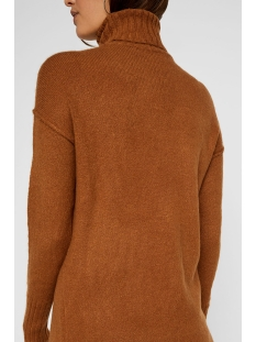 vmluci ls rollneck dress 10216467 vero moda jurk tobacco brown