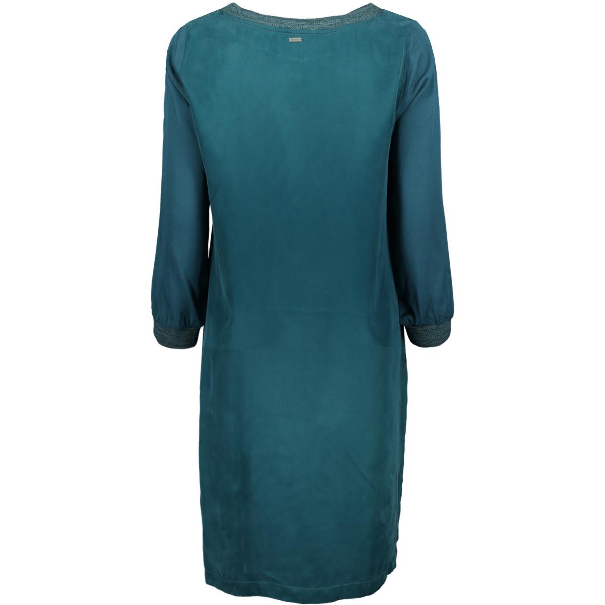 soepel vallende jurk met geweven boord 23001607 sandwich jurk 50082